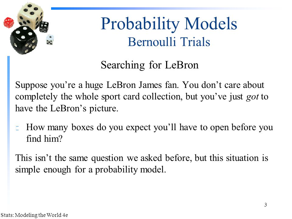 Probability Models Bernoulli Trials
