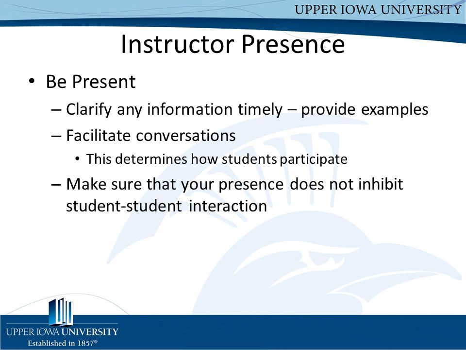 Instructor Presence Be Present
