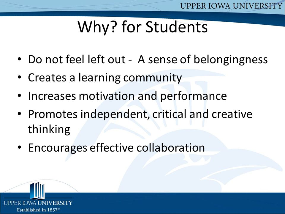 Why for Students Do not feel left out - A sense of belongingness