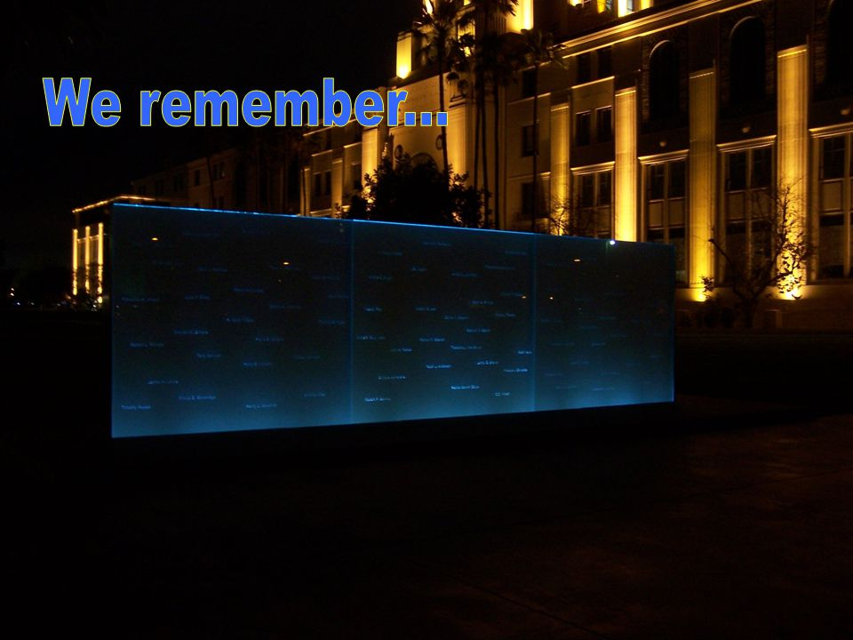 We remember...