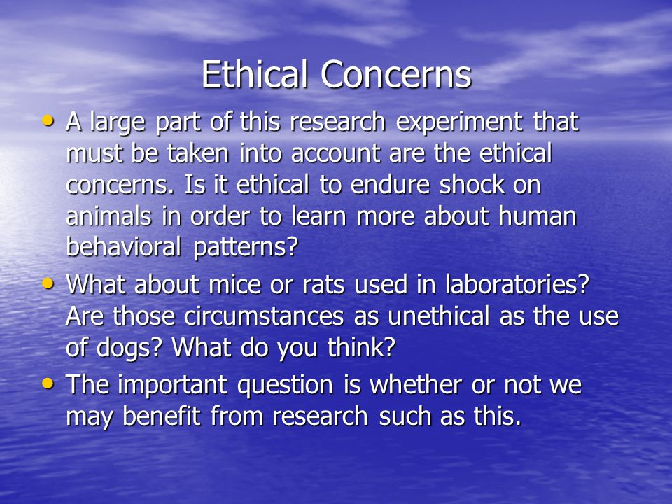 Ethical Concerns