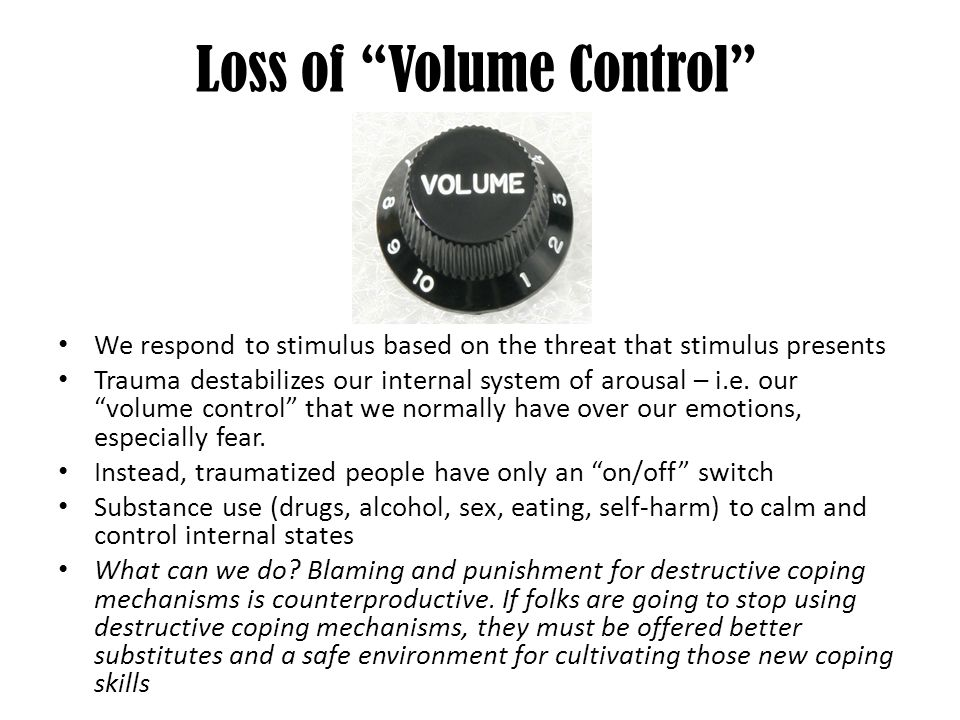Loss of Volume Control