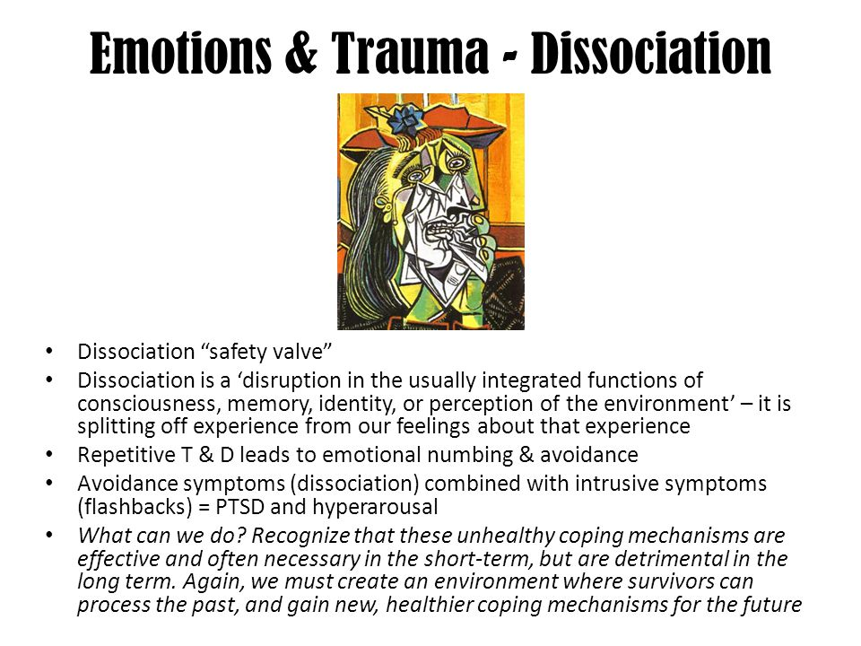 Emotions & Trauma - Dissociation