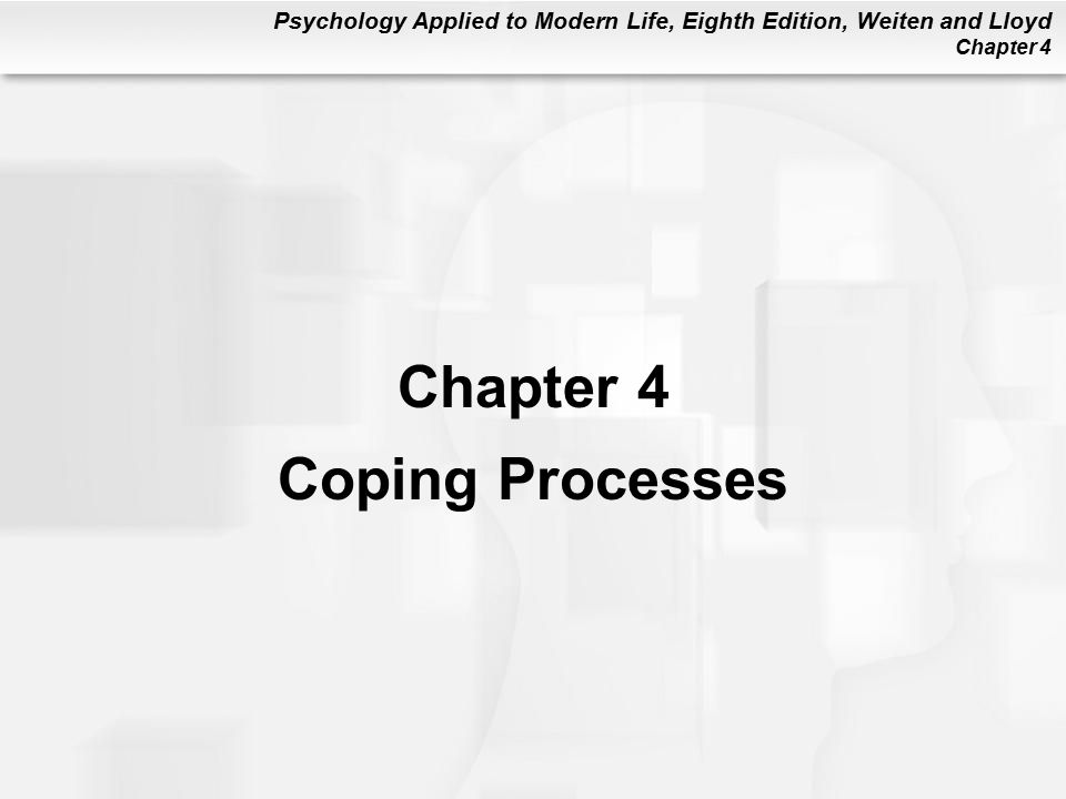 Chapter 4 Coping Processes