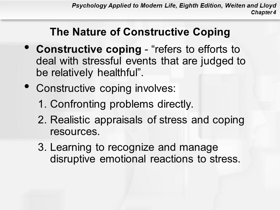 The Nature of Constructive Coping