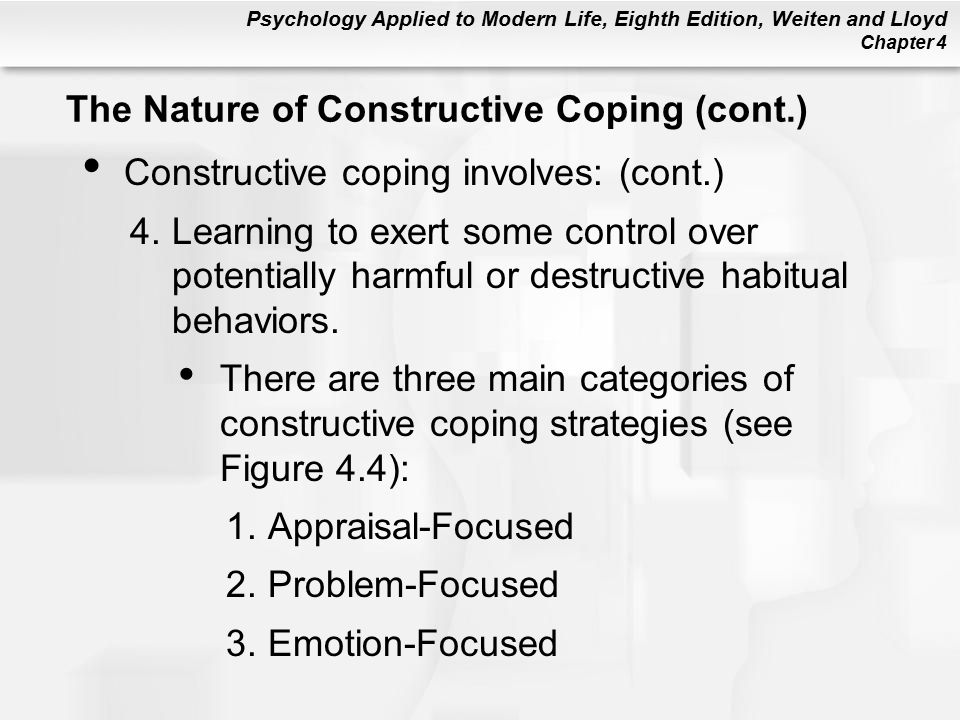 The Nature of Constructive Coping (cont.)
