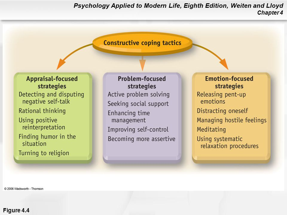 coping tactics Apart from personality traits, people also tend to develop habitual modes and methods of managing stress and coping with upsetting emotions.