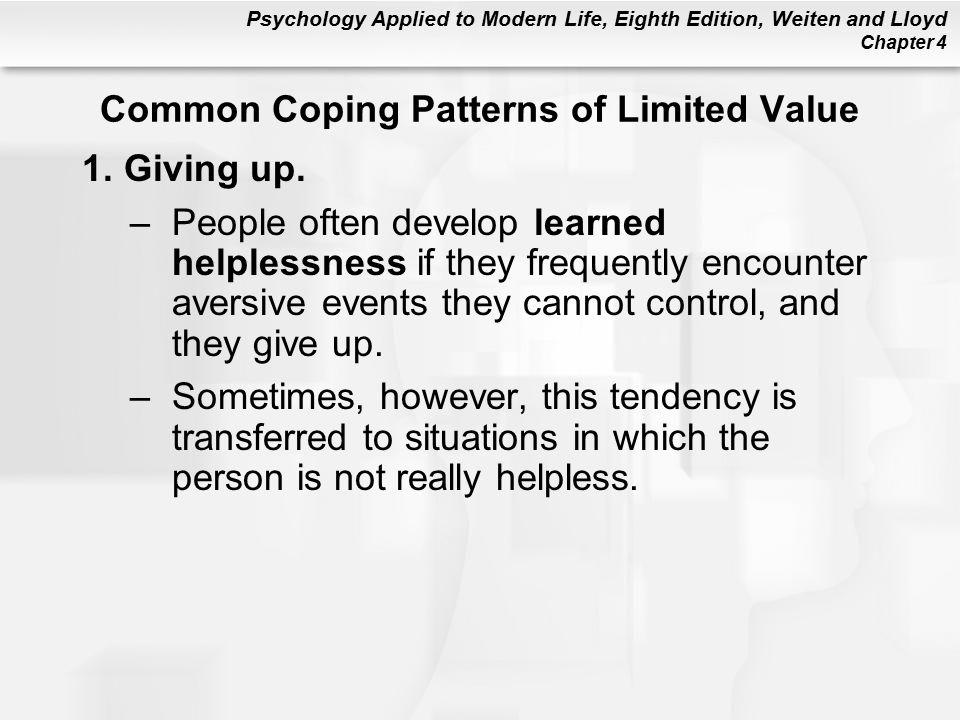 Common Coping Patterns of Limited Value