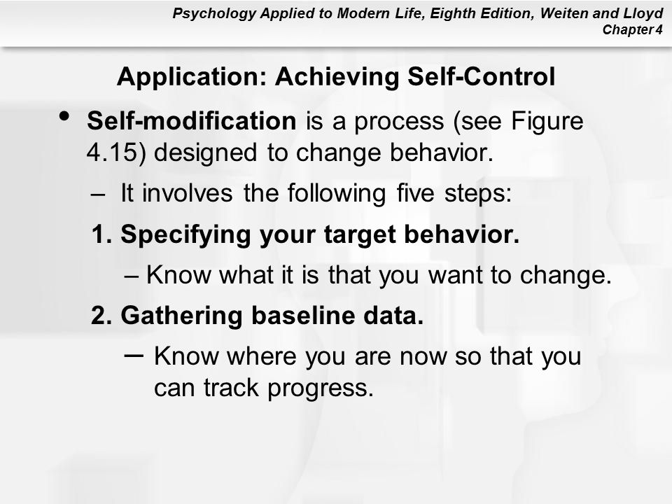 Application: Achieving Self-Control