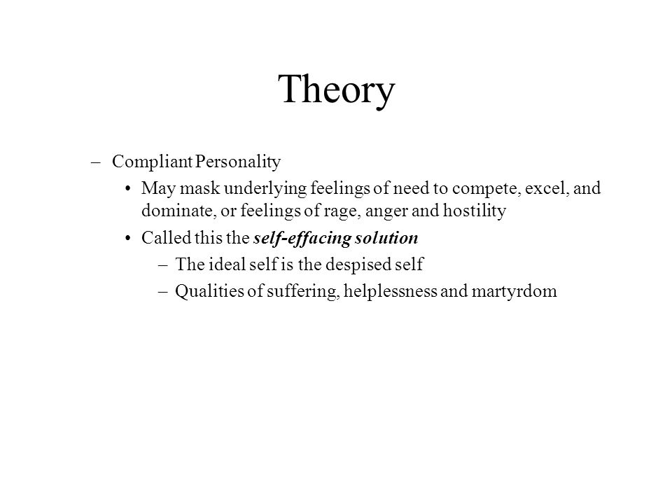 Theory Compliant Personality