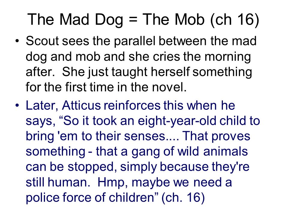 The Mad Dog = The Mob (ch 16)