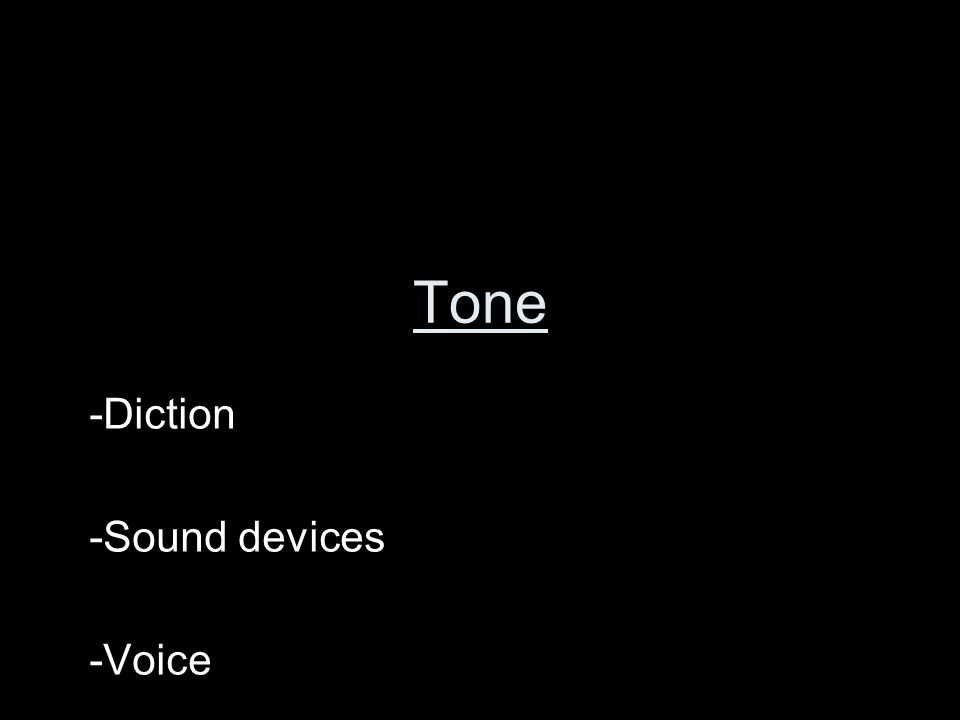 Diction Sound devices Voice