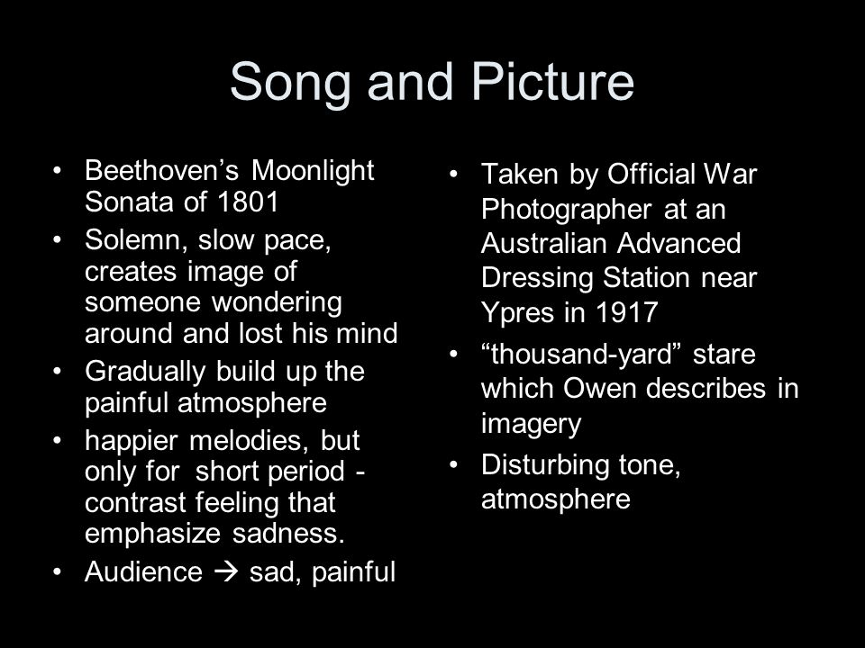 Song and Picture Beethoven's Moonlight Sonata of 1801