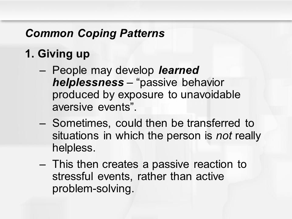 Common Coping Patterns