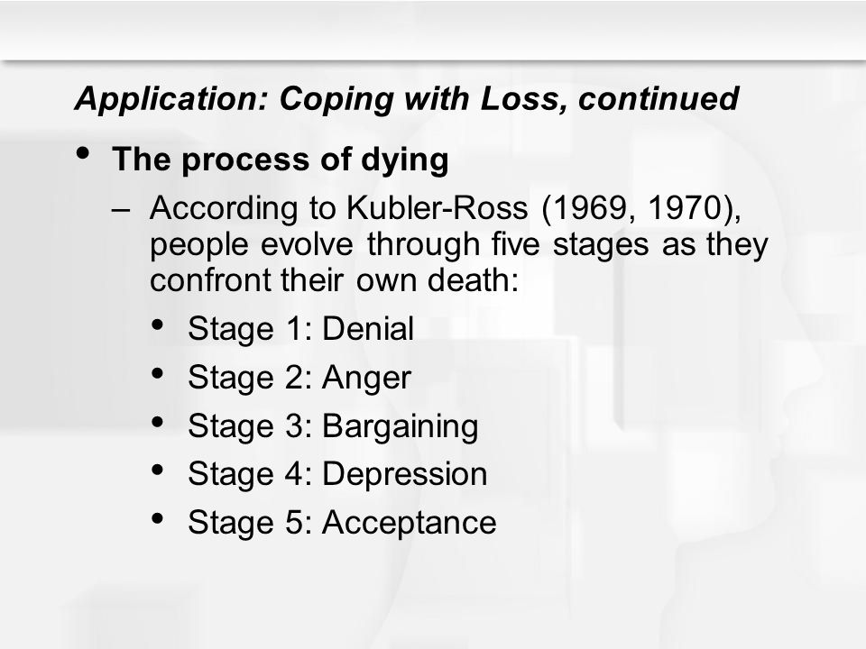 Application: Coping with Loss, continued