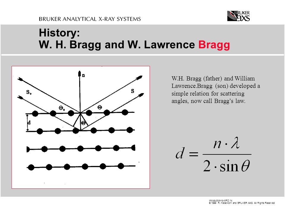 History: W. H. Bragg and W. Lawrence Bragg