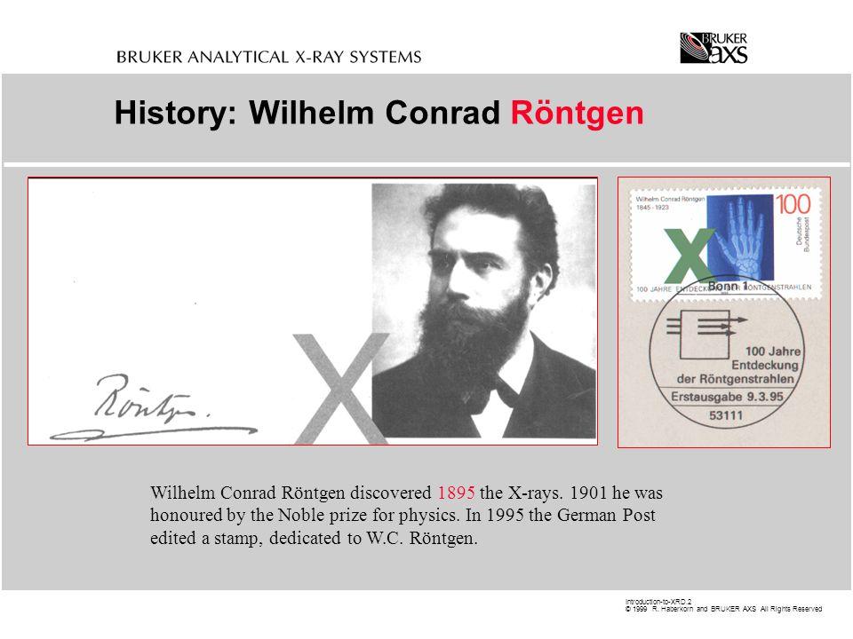 History: Wilhelm Conrad Röntgen