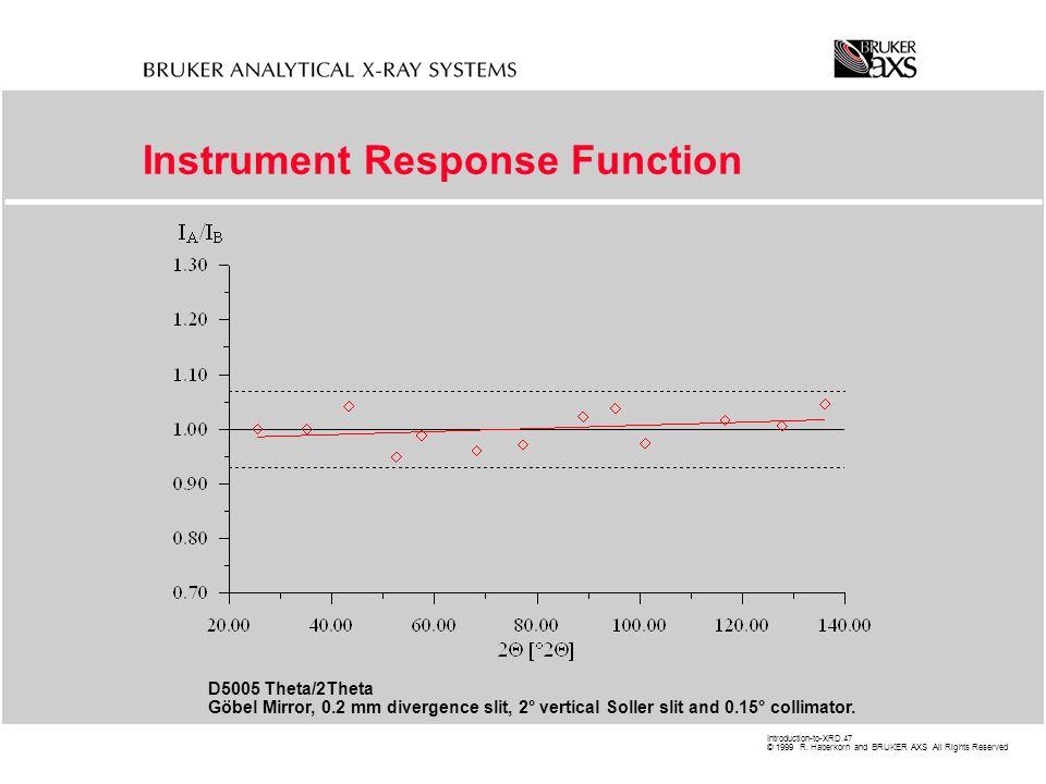 Instrument Response Function