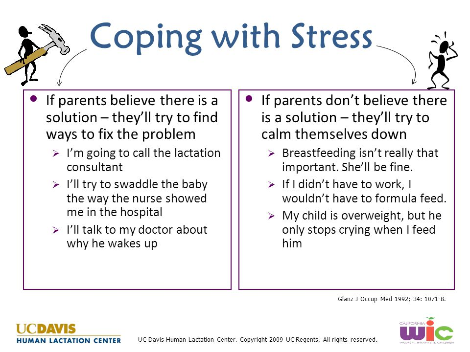 Coping with Stress If parents believe there is a solution – they'll try to find ways to fix the problem.