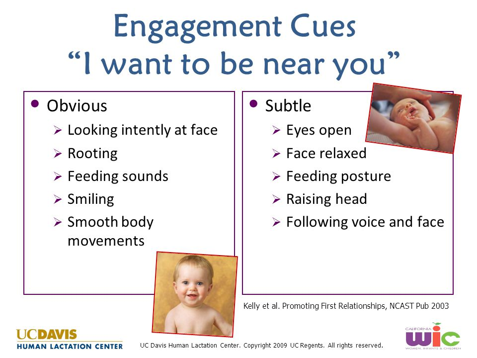 Engagement Cues I want to be near you