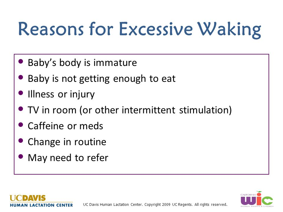 Reasons for Excessive Waking