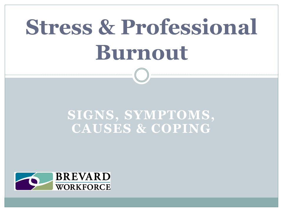 Stress & Professional Burnout