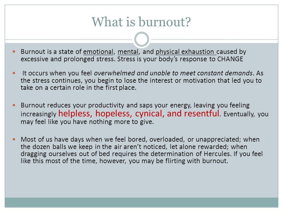 What is burnout
