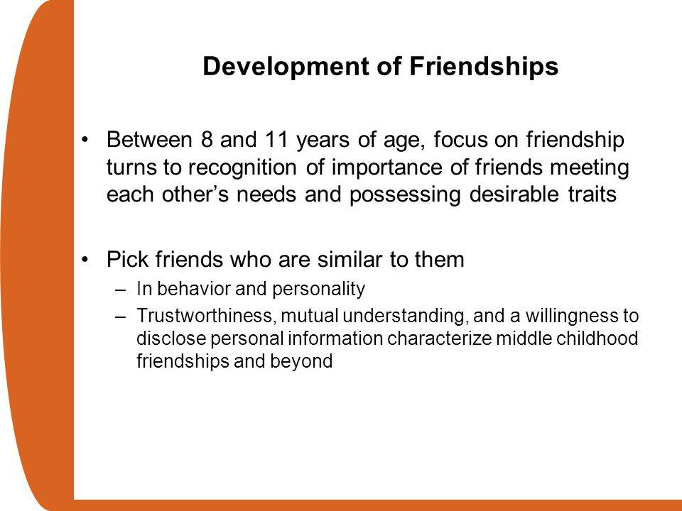 Development of Friendships