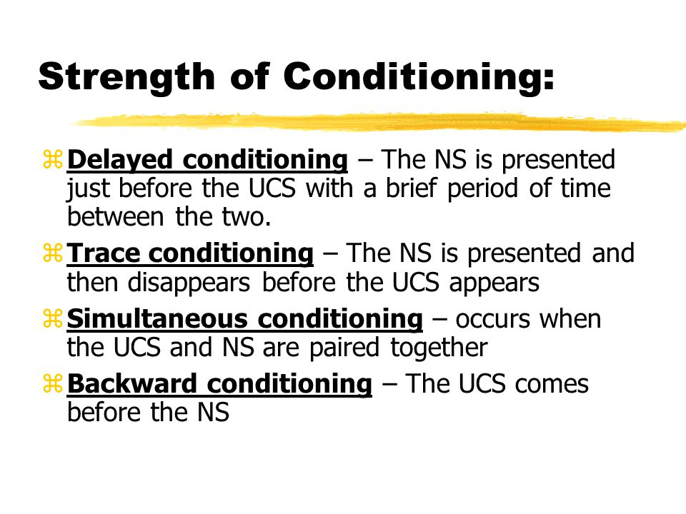 Strength of Conditioning:
