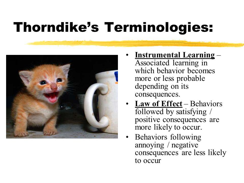 Thorndike's Terminologies: