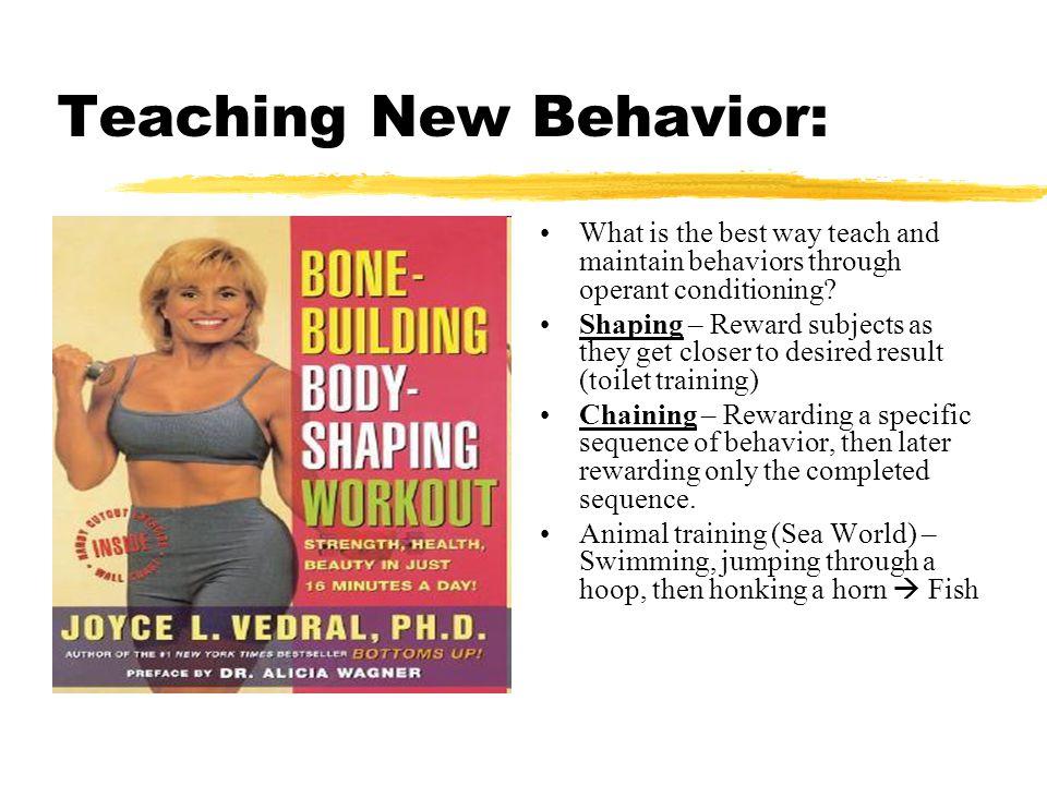 Teaching New Behavior: