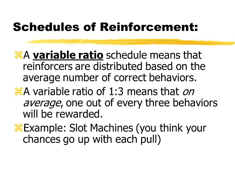 Slot Machine Schedule Of Reinforcement Best Casino Online