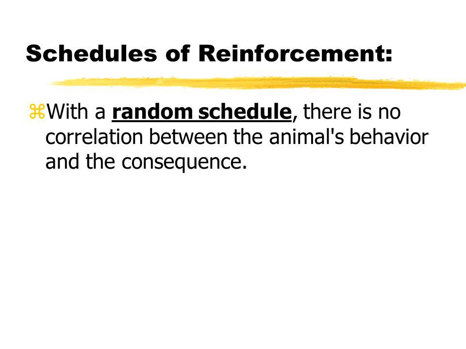 Schedules of Reinforcement: