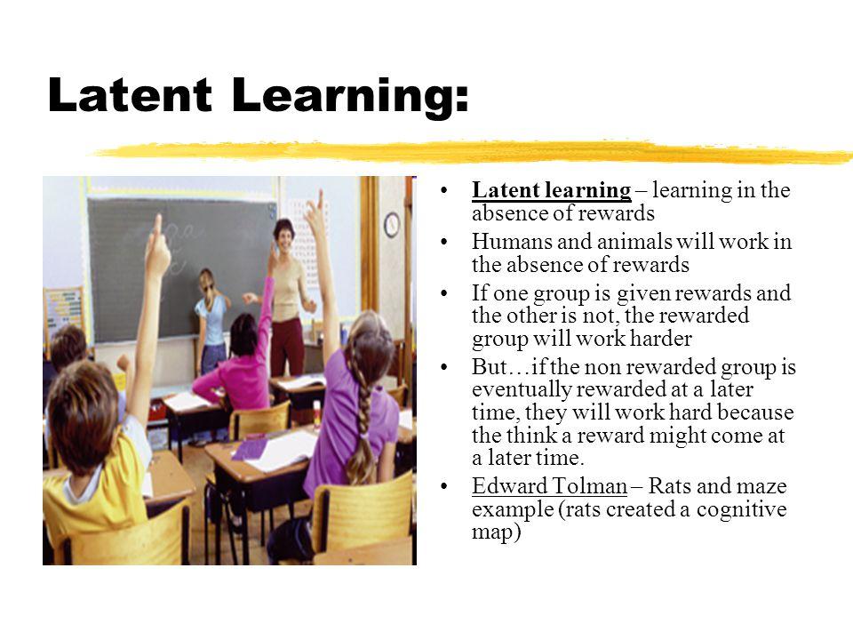 Latent Learning: Latent learning – learning in the absence of rewards
