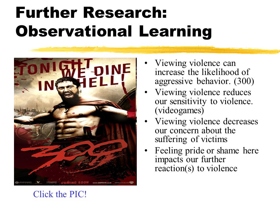 Further Research: Observational Learning