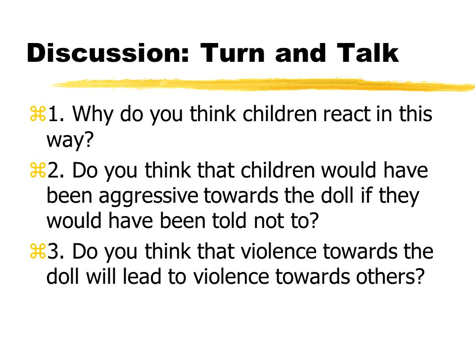 Discussion: Turn and Talk