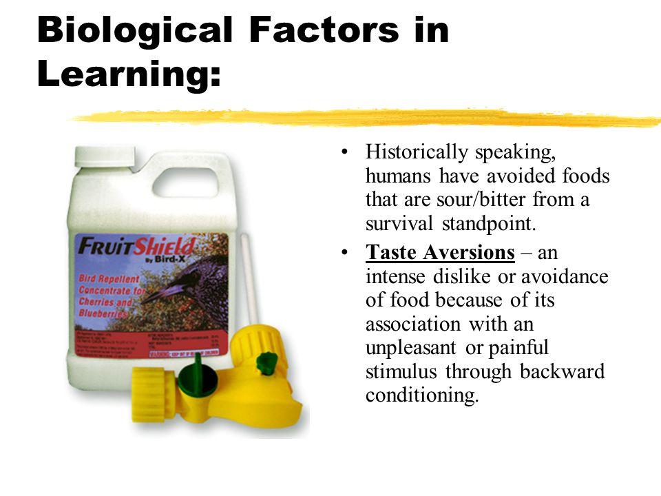 Biological Factors in Learning: