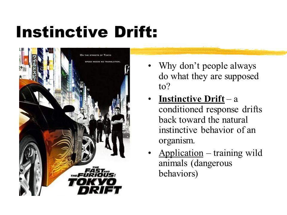 Instinctive Drift: Why don't people always do what they are supposed to