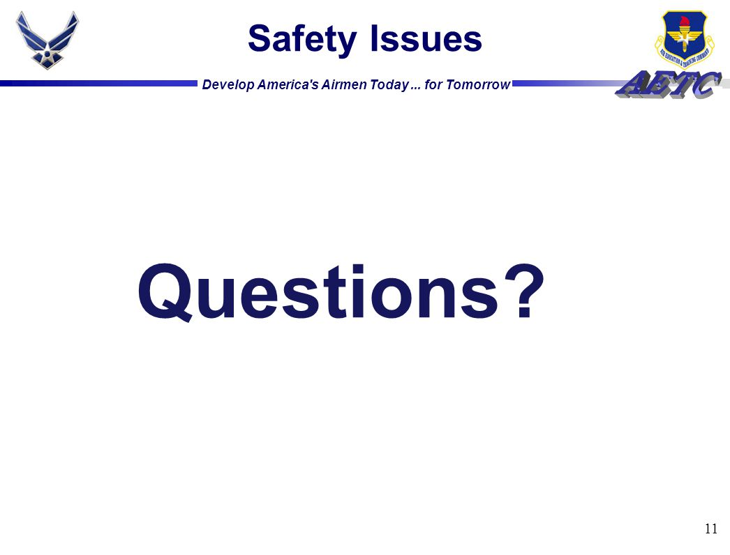 Safety Issues Questions