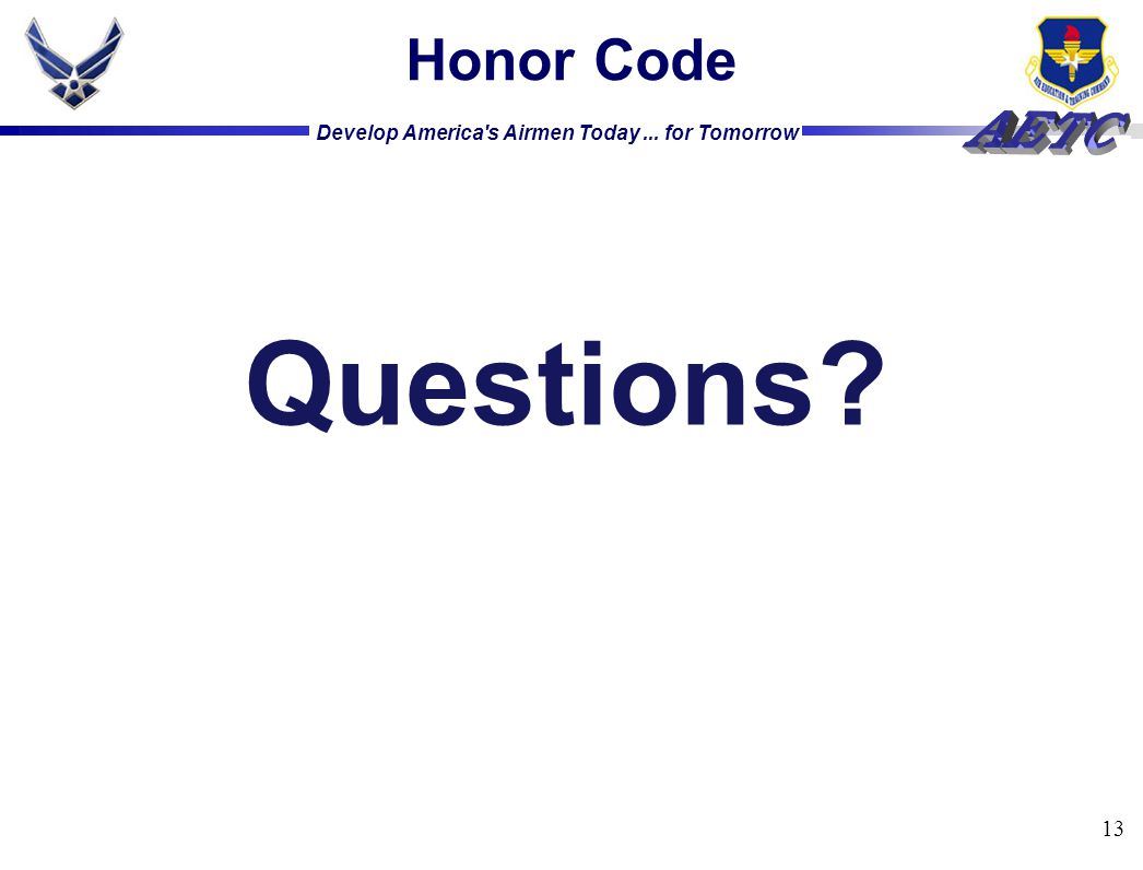 Honor Code Questions