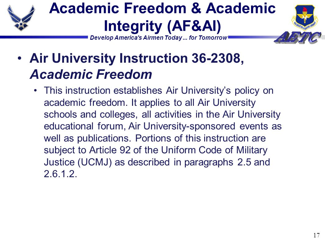 Academic Freedom & Academic Integrity (AF&AI)
