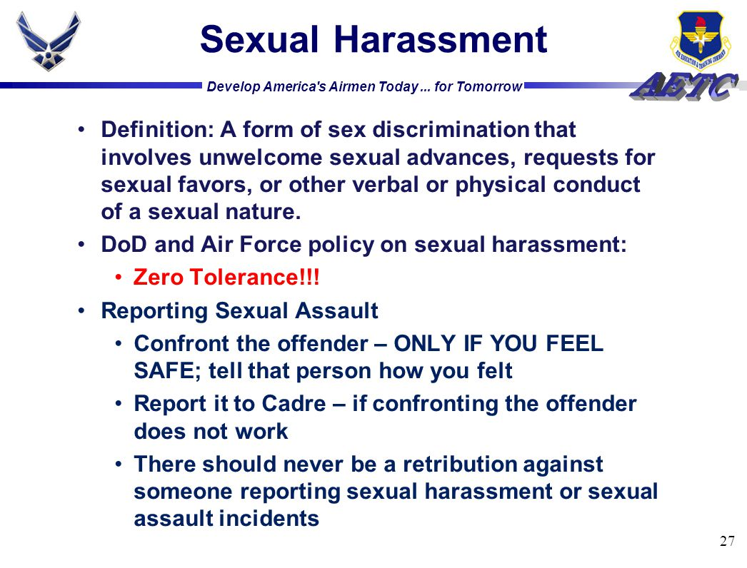 Air Force Sexual Harassment Policy