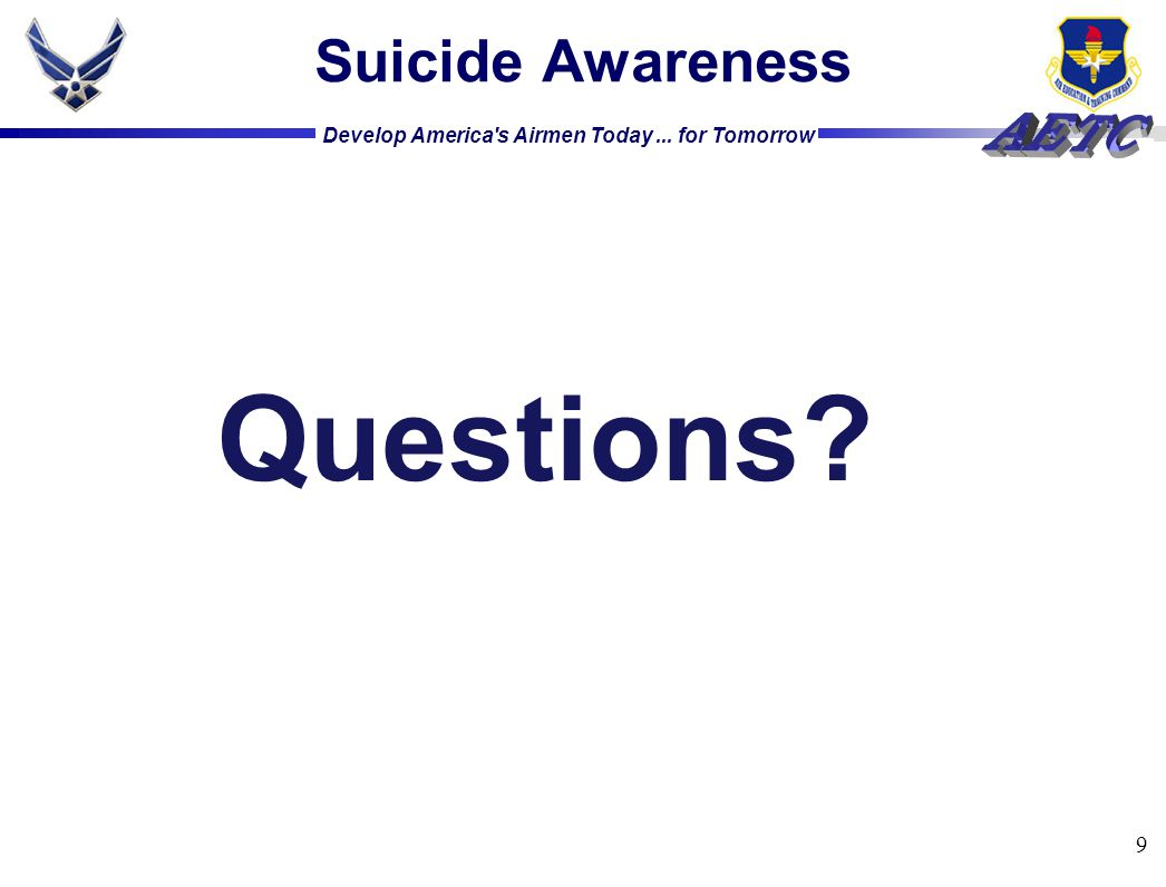 Suicide Awareness Questions