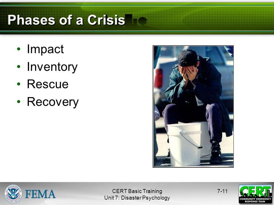 Unit 7: Disaster Psychology