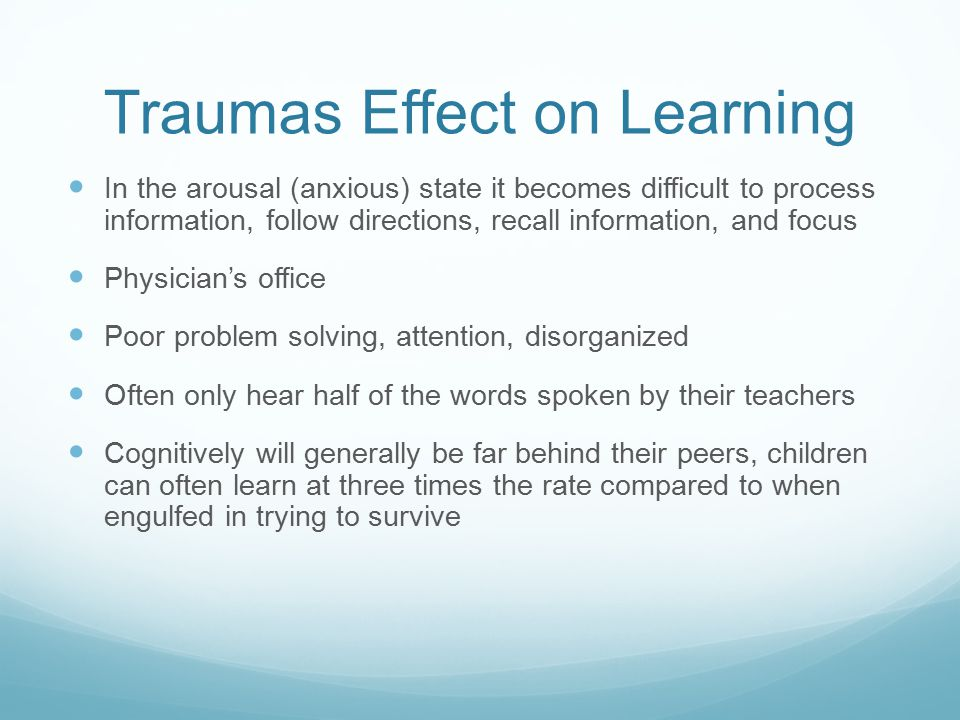 Traumas Effect on Learning