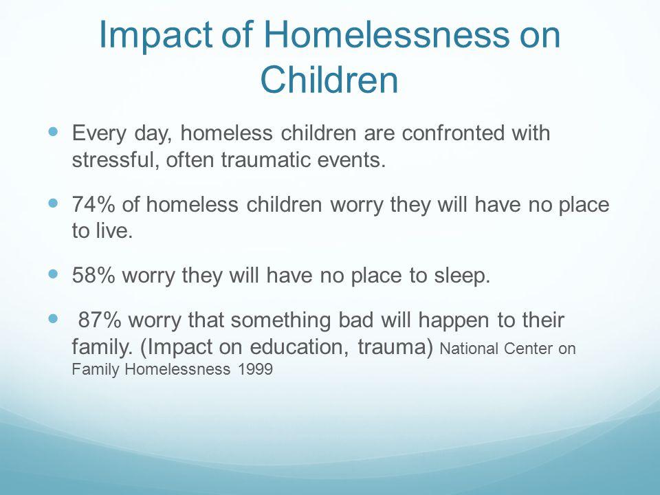 Impact of Homelessness on Children