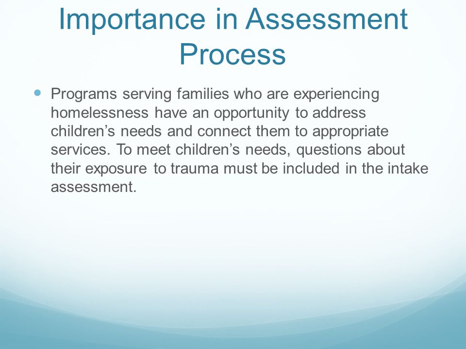 Importance in Assessment Process