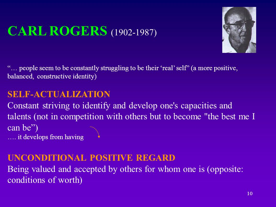 CARL ROGERS (1902-1987) SELF-ACTUALIZATION