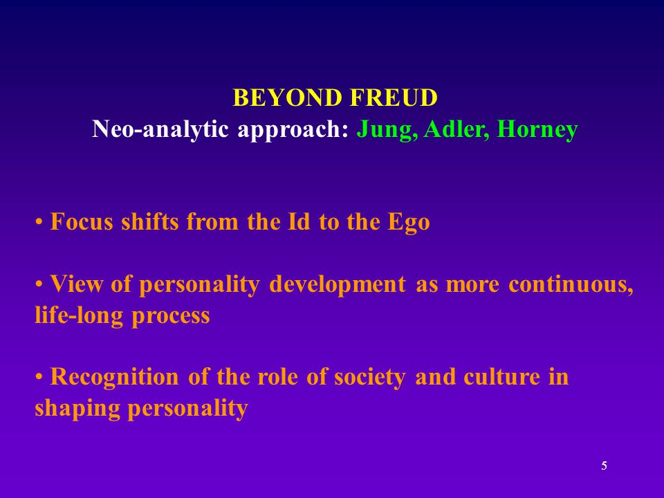 Neo-analytic approach: Jung, Adler, Horney