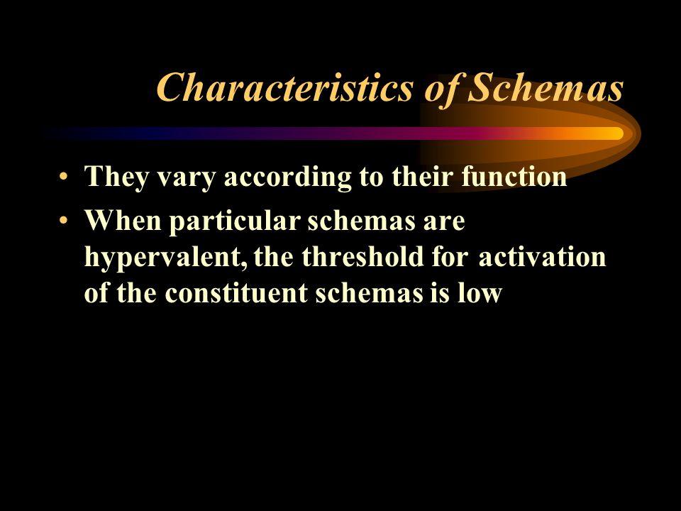 Characteristics of Schemas